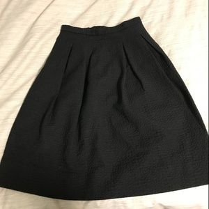 H&M Black Midi Skirt